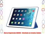 KHOMO Funda iPad Air 2 - Carcasa Azul Oscura Ultra Delgada y Lig?ra con Smart Cover para Apple