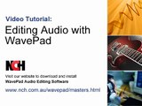 WavePad Audio Editing Software | Intro to Editing