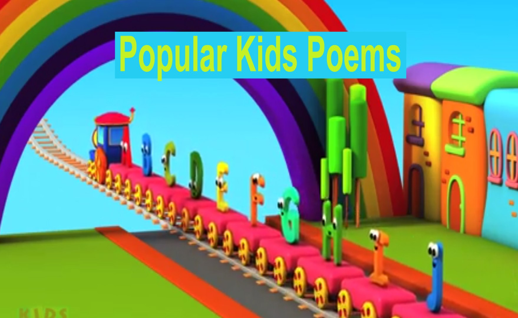 kids poems|The Train,Alphabet Adventure|ABC Song| Nursery Rhymes| kids songs| Children Funny cartoon