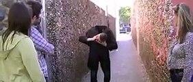 Man sneezes his head off