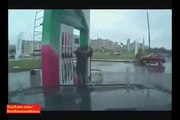 NEW Crazy Russian Petrol Station Assistant doing Crazy Kung Fu !!! Epic.Watch Only in Russia 2013