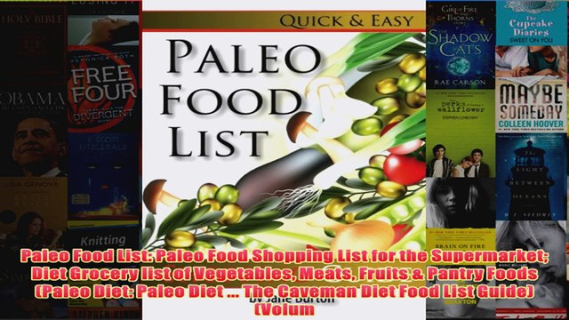 Download PDF  Paleo Food List Paleo Food Shopping List for the Supermarket Diet Grocery list of FULL FREE