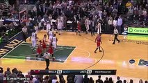 Gordon Hayward Misses the Game-Winner - Bulls vs Jazz - February 1, 2016 - NBA 2015-16 Season
