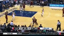LeBron James' Huge Rebound - Cavaliers vs Pacers - February 1, 2016 - NBA 2015-16 Season