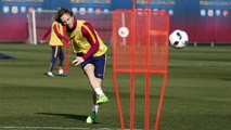 FC Barcelona training session: Final session before hosting Valencia in Copa del Rey