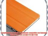 VEO | Funda Ultra Slim Para Samsung Galaxy Tab 3 LITE 7.0 Smart Case Ligera NARANJA