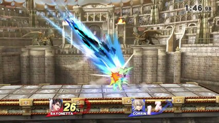 Super Smash Bros : Super Smash Bros. for Nintendo - Bayonetta Corrin Battle Video - 1on1 Coliseum)