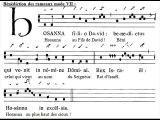 Antiphona gregorian 'Hosanna Filio David', Dominica in Palmis (Dimanche des Rameaux)