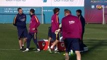 la dérniére seance d'entrainement avant d'accueillir Valence en Semi final