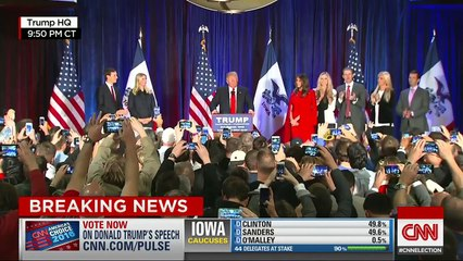 Watch Donald Trump's surprisingly gracious concession speech in Iowa