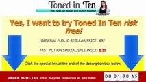 Toned In Ten Review | Discount on Toned In Ten