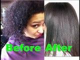 Korean Magic Straight perm on 4a-4b afro-textured hair and air dry