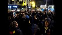 Manif de soutien de supporters aux Red Tigers à Bollaert et en ville