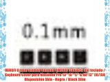 MiNGFi 0.1mm alem?n German QWERTZ Cubierta del teclado / Keyboard Cover para MacBook Pro 13