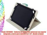 Trendz TZU10ORN - Cubierta de funda folio universal con soporte integrado y cierre para tabletas
