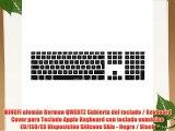 MiNGFi alem?n German QWERTZ Cubierta del teclado / Keyboard Cover para Teclado Apple Keyboard