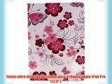 Voguecase? Para Apple iPad Pro (12.9) Funda de cuero con soporte Carcasa Tapa Case Cover (flor