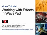 WavePad Audio Editing Software | Intro to Effects