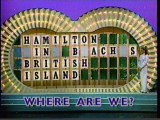 Wheel of Fortune episode (partial), late 1993 or early 1994
