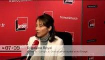 """Ségolène Royal : """"Il faut trouver un équilibre entre le renforcement des règles et la tradition des droits de l'homme"""""""