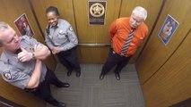 Un sheriff danse sur Whip Nae Nae dans l'ascenseur - Trop marrant