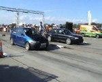 Audi S2 Coupe Vs. Fiat Punto GT Turbo Drag Race