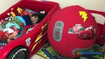 100+ cars toys GIANT EGG SURPRISE OPENING Disney Pixar Lightning McQueen kids video Ryan T