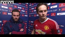 Derby County 1 3 Manchester United Juan Mata & Daley Blind Post Match Interview