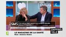 """Marina Carrère d'Encausse à Michel Cymes : """"Vous pouvez enlever votre main là ?"""""""