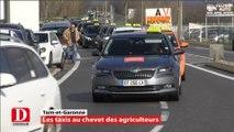 Tarn-et-Garonne : agriculteurs et taxis manifestent ensemble