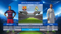 PES 2016 - UEFA Champions League Final - Barcelona vs Real Madrid (Cristiano Ronaldo, Messi, Neymar