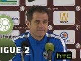 Conférence de presse FC Metz - Stade Lavallois (1-0) : Philippe  HINSCHBERGER (FCM) - Denis ZANKO (LAVAL) - 2015/2016