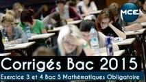 Bac 2015: corrigés vidéo exercice 3 et 4 Bac S Mathématiques Obligatoire « la fonction dérivée » !