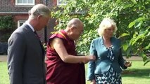 Their Royal Highnesses welcome His Holiness The Dalai Lama to Clarence House