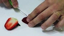 Carving fruit for beginners, lesson 1 - Arte com fruta e legumes - Arte com fruta e legumes