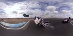 GoPro Spherical: Fun Laps and Fast Wheelies on the BMW S1000RR Superbike (World Music 720p)