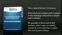 Reverse Phone Number Lookup Review - Reverse Cell Phone Lookup Free