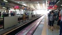 Rapid KL LRT train arriving KL Sentral