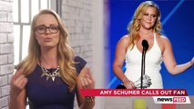 Amy Schumer Calls Out Young Critic After Sexist Joke