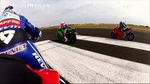 Defi 300kmh  Kawasaki ZX10R vs Suzuki 1000 GSX-R vs BMW S1000RR vs Ducati 1199 Panigale