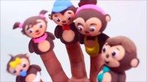 FINGER FAMILY SONG ♫ | Nursery Rhyme | Five Little Monkeys Puppet Finger