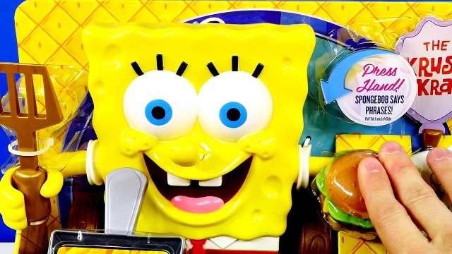Spongebob Squarepants Talking Krabby Patty Maker Play Doh Krusty Krab Burger Playdough Toy