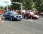 Audi S2 Coupe [10.4@220] Vs. Honda Civic VTI Drag Race