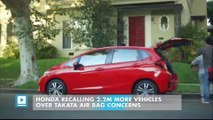 Honda recalling 2.2M more vehicles over Takata air bag concerns