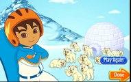 Go Diego Go! Diego va hacer snow board para bajarse de la montaña (juego)