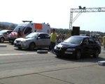 Subaru Impreza WRX STI Vs. Mitsubishi Lancer EVO VIII Drag Race