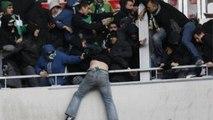 Nice - Saint-Étienne : des supporters des verts arrachent les sièges, les jettent sur les CRS et tentent d'envahir les tribunes des supporters niçois