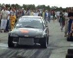 Honda Civic 2.0 Killer Bee Turbo Vs. Ford Fiesta RS Turbo Drag Race