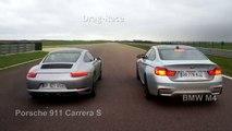 Drag-race : Porsche 911 Carrera S vs. BMW M4