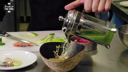 Gamberonis, gaspacho de concombre  - Recette italienne
